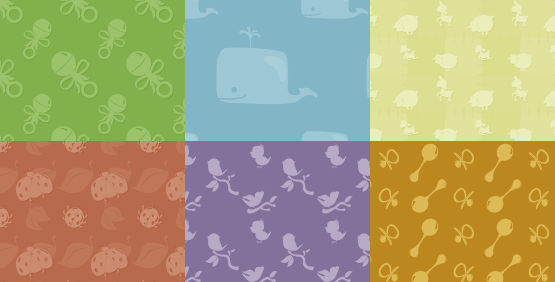 Baby Themed Monochromatic Patterns