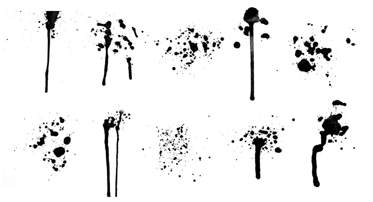 Ink Splatter Photoshop Brushes