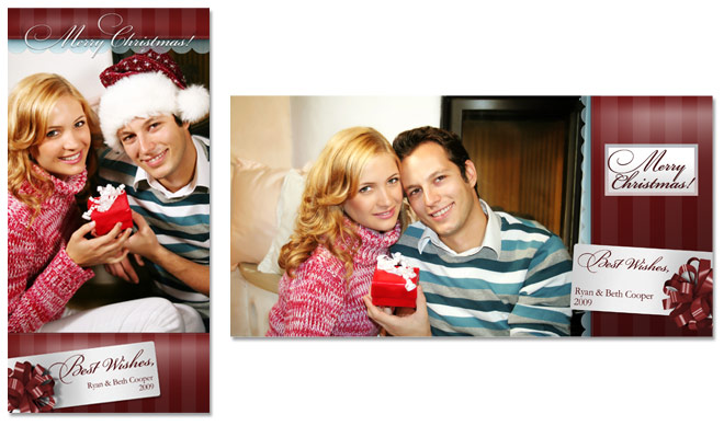 4x8 Traditional Holiday Greeting Card