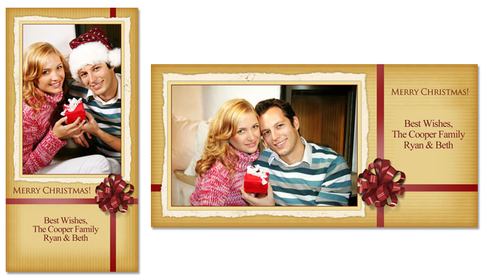Merry Christmas 4x8 Greeting Card Template - 4E002