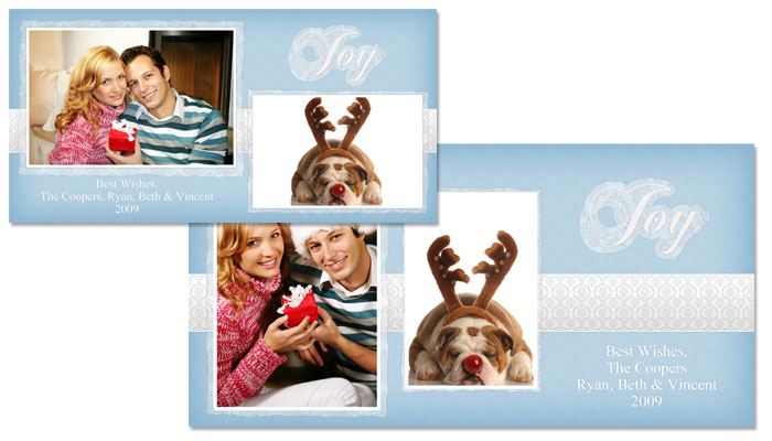 Joy 4x8 Greeting Card Template - 42E005