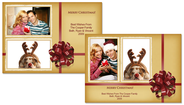 Merry Christmas 5x7 Greeting Card Templates - 52E012