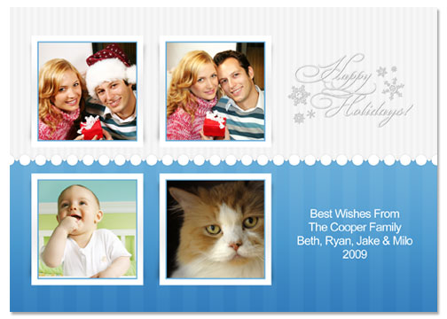 Happy Holidays 5x7 Greeting Card Template - 54E013-S