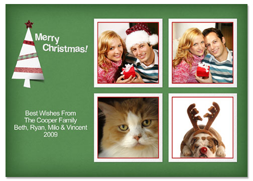 Merry Christmas 5x7 Greeting Card Template - 54E017-S