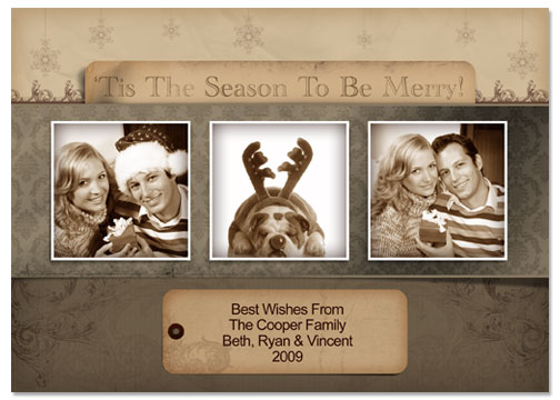 Tis The Season 5x7 Greeting Card Template - 53E018-S