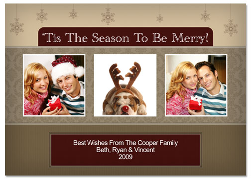 Tis The Season 5x7 Greeting Card Template - 53E019-S